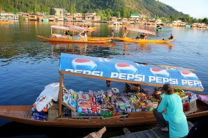 Snack boat on Dal Lake, Srinagar, Kashmir