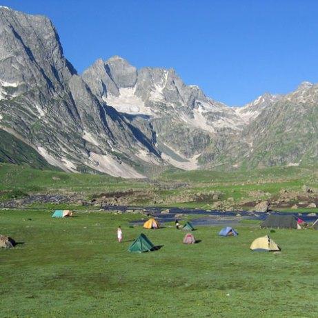 Vishensar Trek Campsite, Kashmir