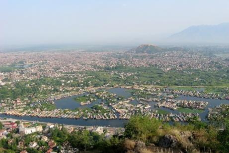 View overlooking city of Srinagar, Kashmir