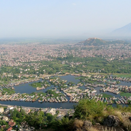 View overlooking city of Srinagar, Kashmir