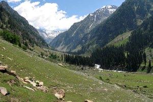 View near Lidderwat while trekking in Kashmir