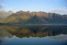 Dal Lake and Zaberwan Mountains Reflection