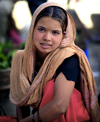 Kashmiri Girl, photo copyright Matt Brandon